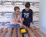 Paso 8 para decorar un Dormitorio con papel pintado alegre y juvenil