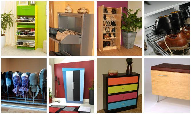 10 ideas de bricolaje para organizar los zapatos hogarmania - Como organizar un armario empotrado pequeno ...