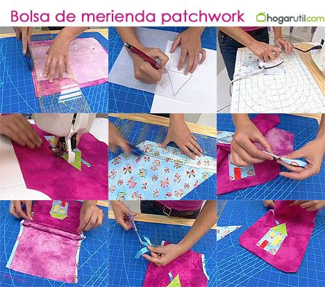 bolso merienda patchwork