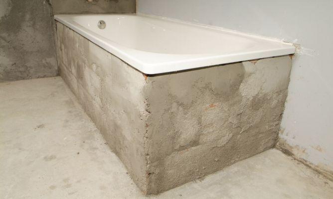 C mo colocar e instalar una ba era bricoman a for Como hacer un piso de cemento paso a paso