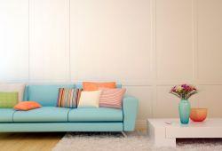 Combinar sofá azul