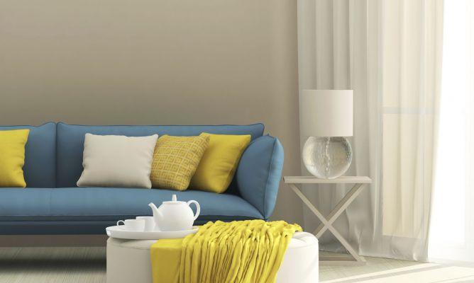 C mo combinar un sof azul hogarmania - Combinar colores salon ...