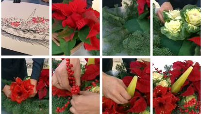 Centro de mesa navide o con poinsetia blanca hogarmania for Centros de mesa navidenos caseros