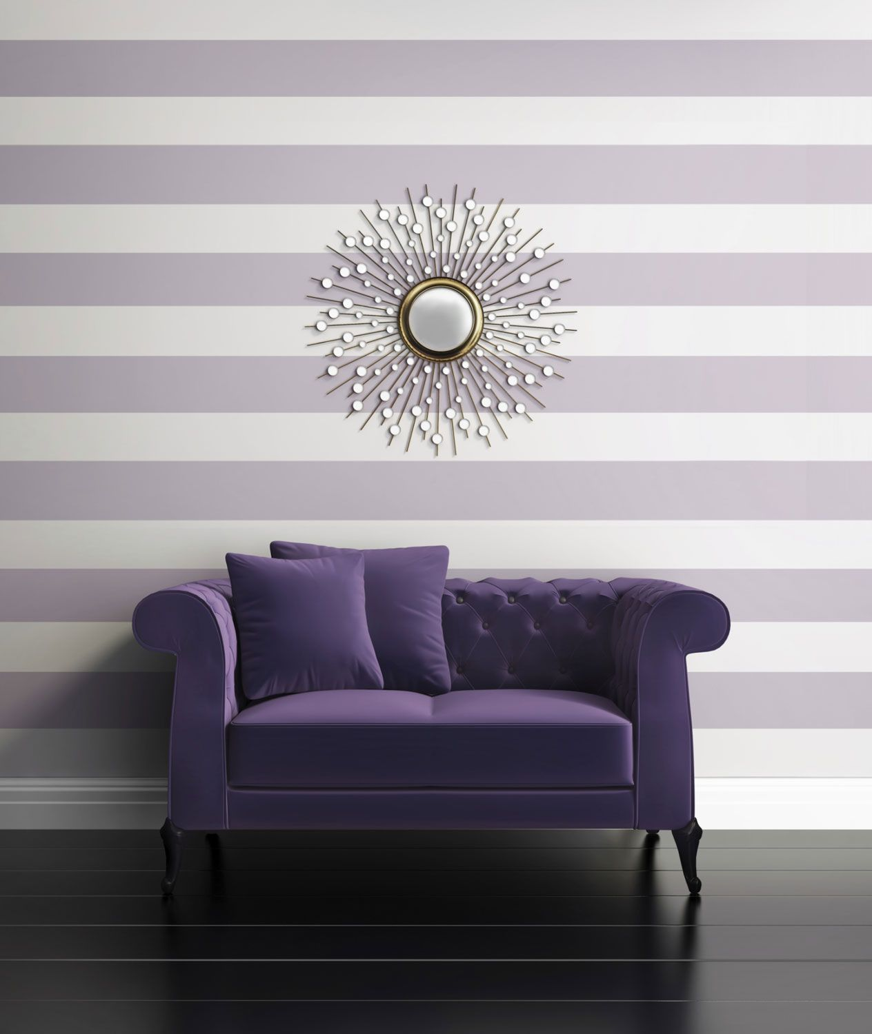 Ideas para combinar un sof morado hogarmania for Papel pintado para salon comedor