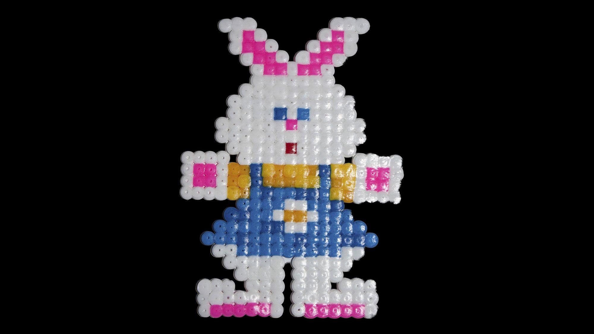 Conejo con hama beads