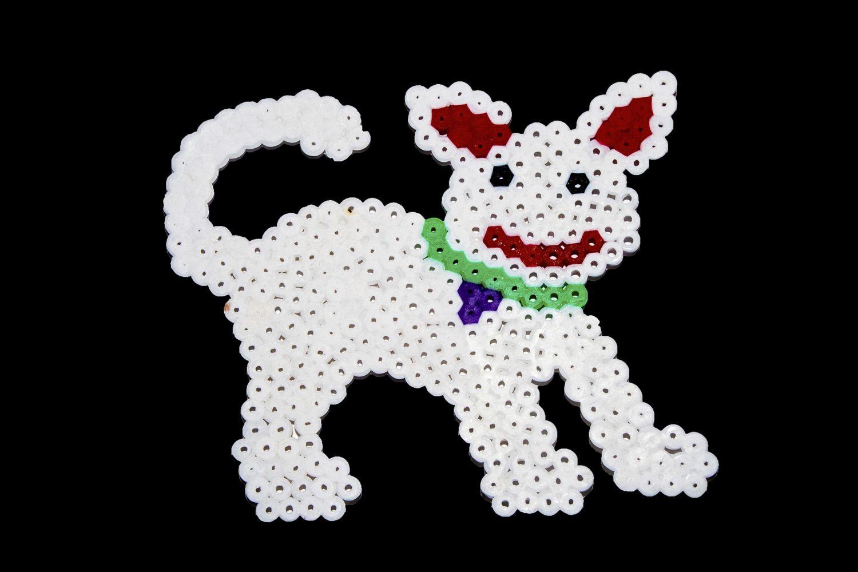 Perro con hama beads