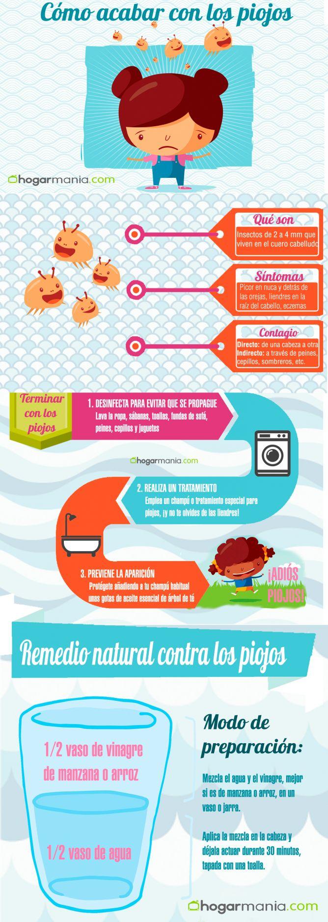 Infografía para acabar con los piojos