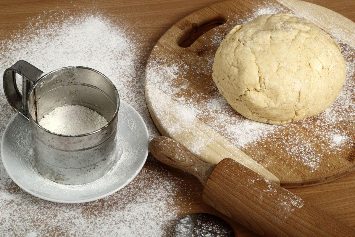 Elaboración de los croissants o cruasanes caseros - paso 1