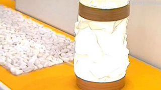 Cómo hacer una lámpara drapeada