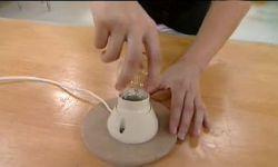 crear lámpara drapeada - paso 10