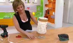 crear lámpara drapeada - paso 12