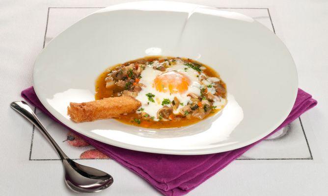 Receta de huevo a baja temperatura con oreja bruno oteiza for Cocina baja temperatura