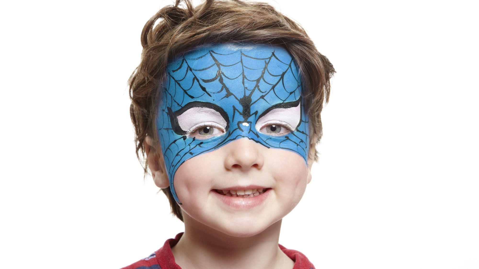 maquillaje halloween spiderman
