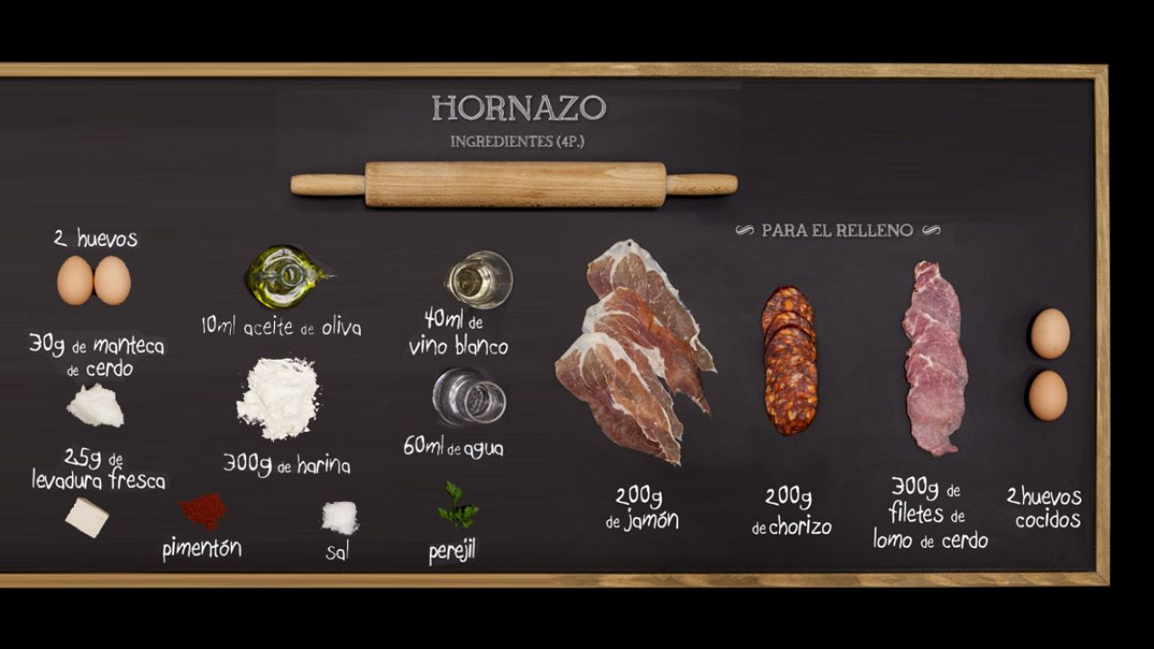 Hornazo - Ingredientes