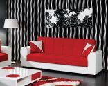 Combinar sofá de color rojo