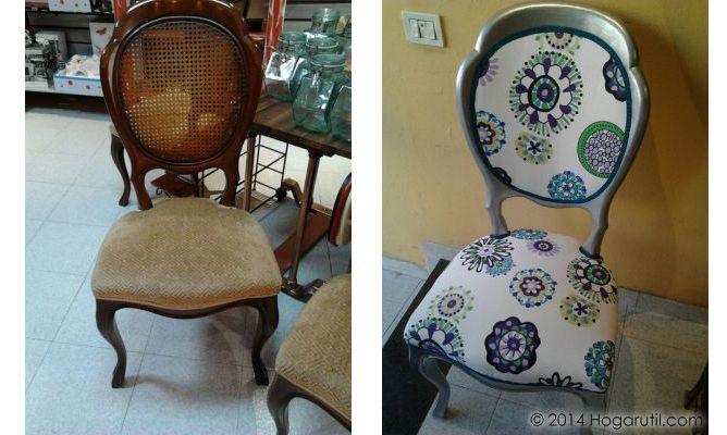 Cambio de look de sillas antiguas de Ruth Martín