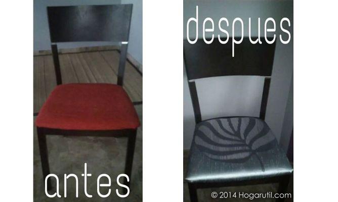 Tapizado y cambio de look de sillas de Butterfly
