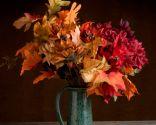 Hojas secas para decorar en otoño