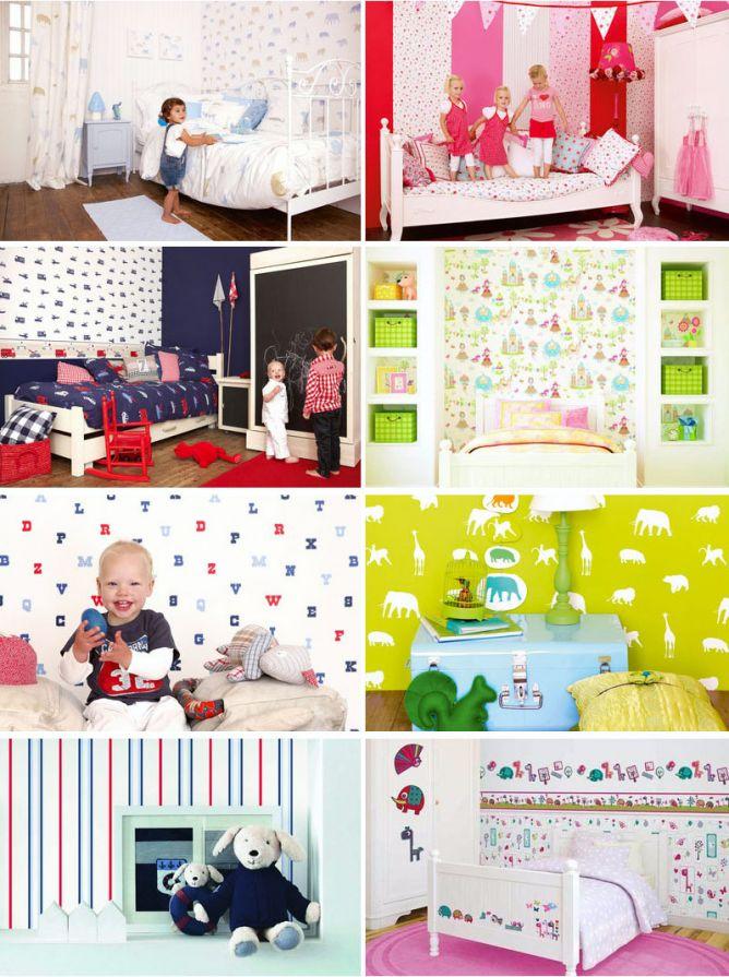 papel pintado infantil - camas