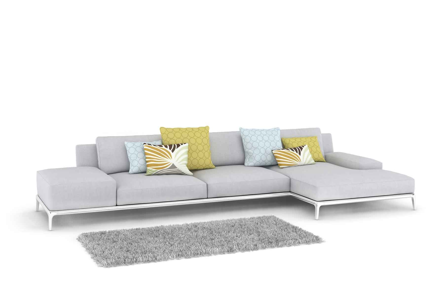 Sof de color gris para el sal n hogarmania - Decoracion cojines sofa ...