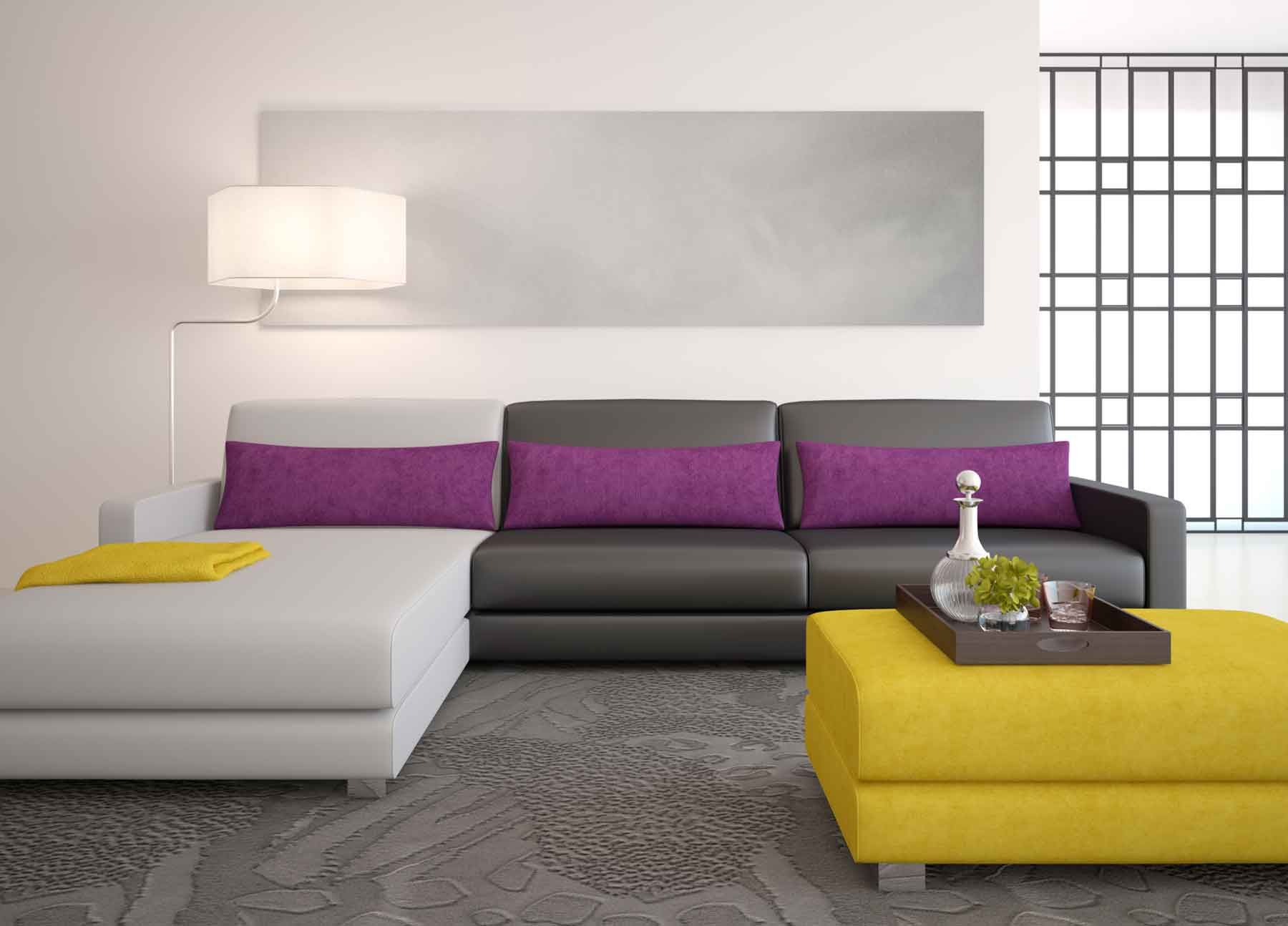 Sof de color gris para el sal n hogarmania for Sofas grises decoracion