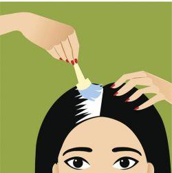 teñir raíces de pelo con canas - paso 3