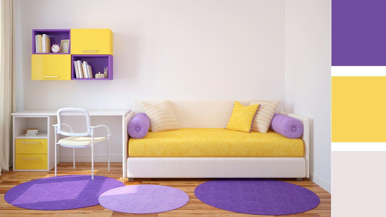 4 opciones para combinar colores en una habitación juvenil