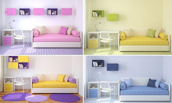 4 opciones para combinar colores en una habitaci n juvenil for Habitaciones juveniles ikea