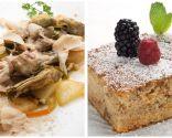 Alcachofas, patatas y foie