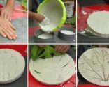Cuadros de escayola con forma de hoja