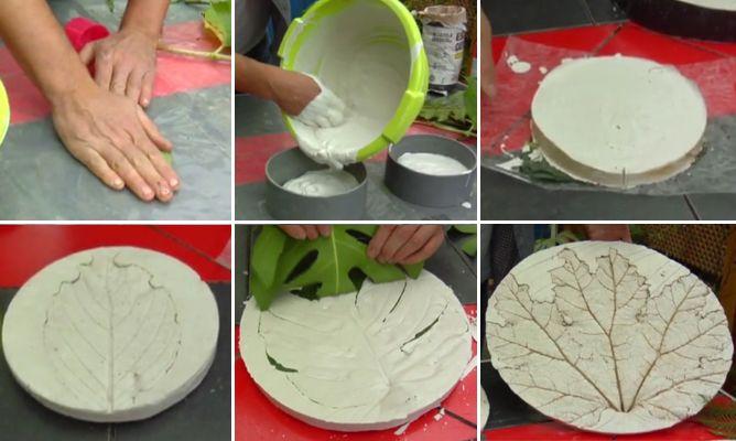 Cuadros de escayola con hojas bricoman a - Cuadros de escayola ...