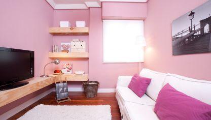 Decorar sala minimalista y confortable decogarden - Pintar una habitacion pequena ...
