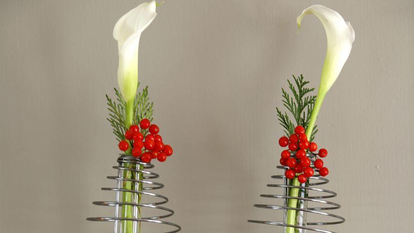 decoracin navidea con calas blancas - Decoracion Navidea