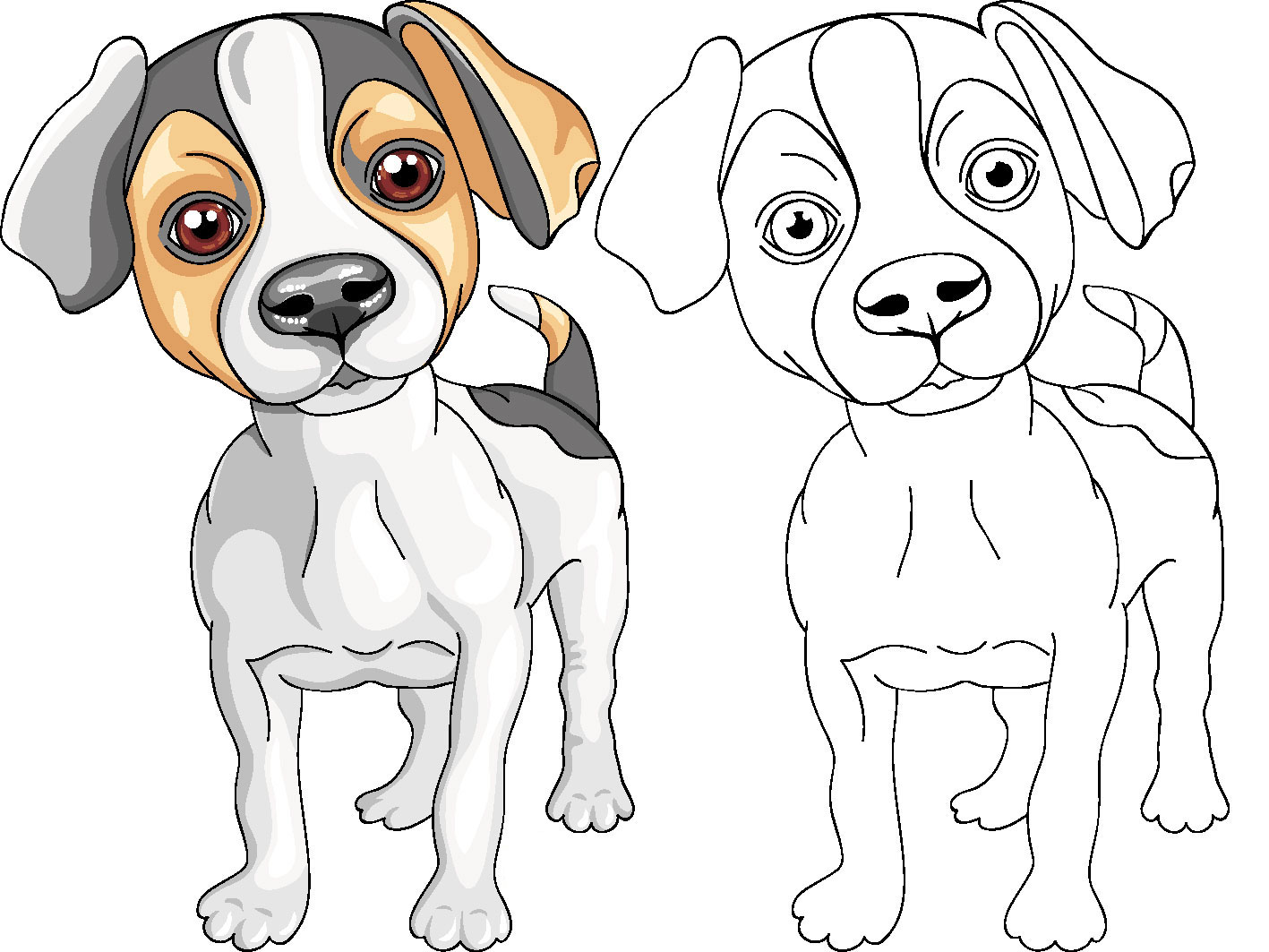 Dibujos De Perros Para Colorear Jack Russiel Terrier En Decoración