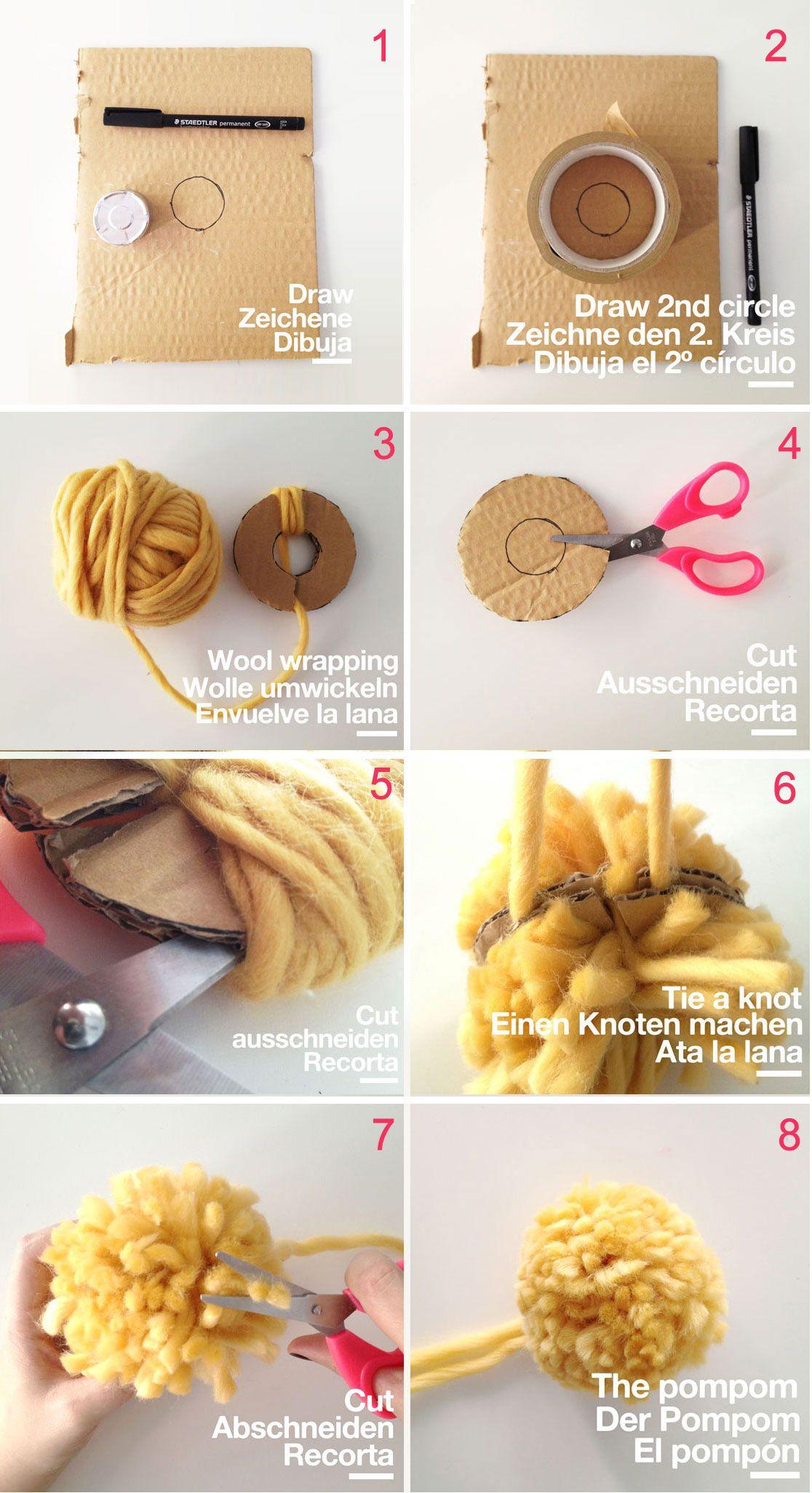 pompones lana