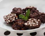 Rocas de arroz inflado y chocolate
