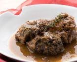Liebre en salsa con rabo de ternera