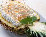 Receta de Piña salteada con merengue de lima
