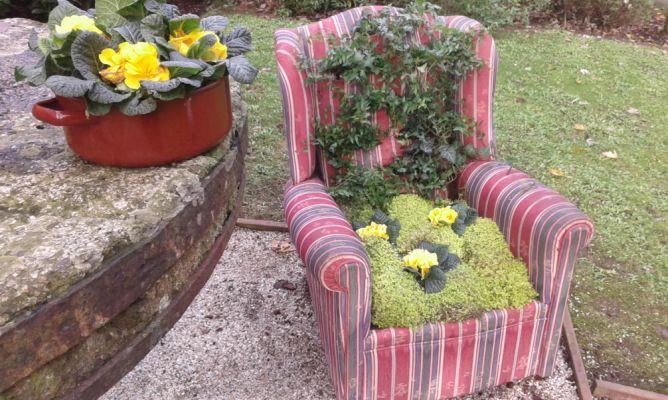 Reciclar butaca vieja en macetero bricoman a for Bricomania jardin