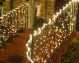 Iluminación navideña en exterior