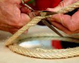 Enmarcar un espejo con cuerda