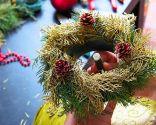 Cómo hacer una corona navideña pequeña