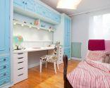 Habitación juvenil en tonos azules