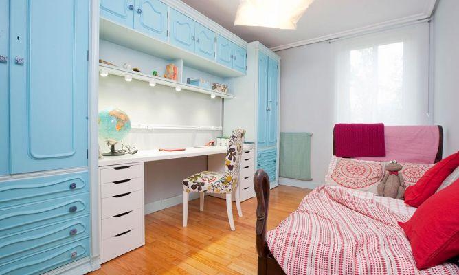 Habitaci n juvenil en tonos azules decogarden - Decogarden habitacion juvenil ...