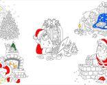 Dibujos de Santa Claus para colorear