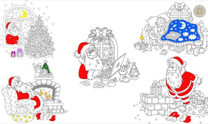 Dibujos de Santa Claus para colorear en Navidad - Hogarmania