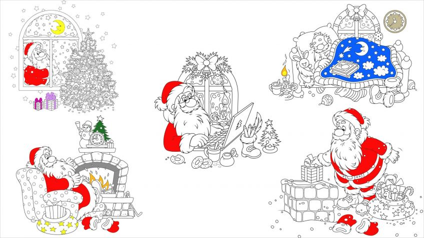 Dibujos de navidad para colorear paso a paso