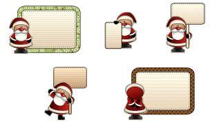 Etiquetas estilo Papá Noel
