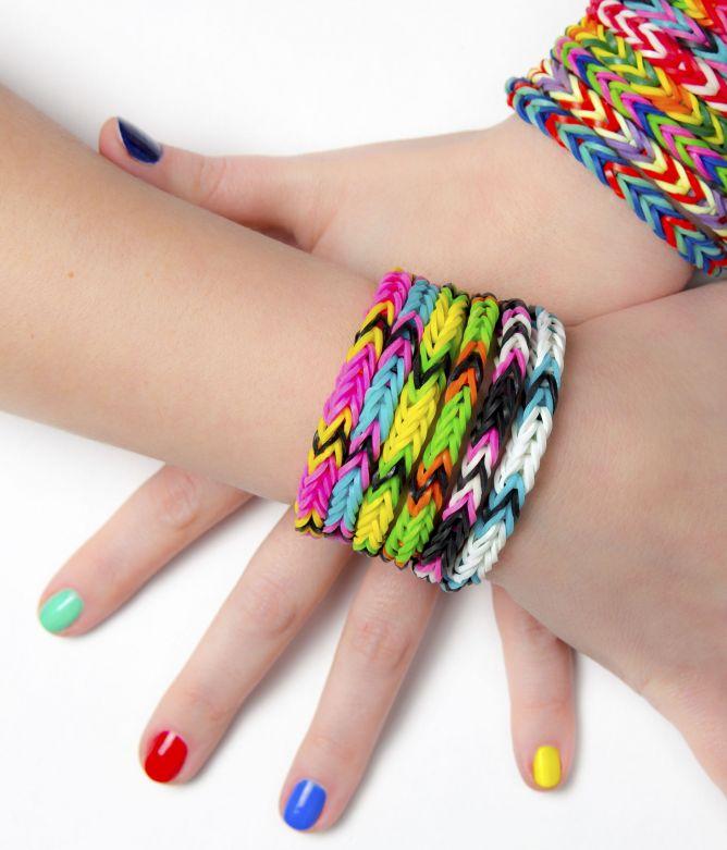 pulseras gomas colores Navidad