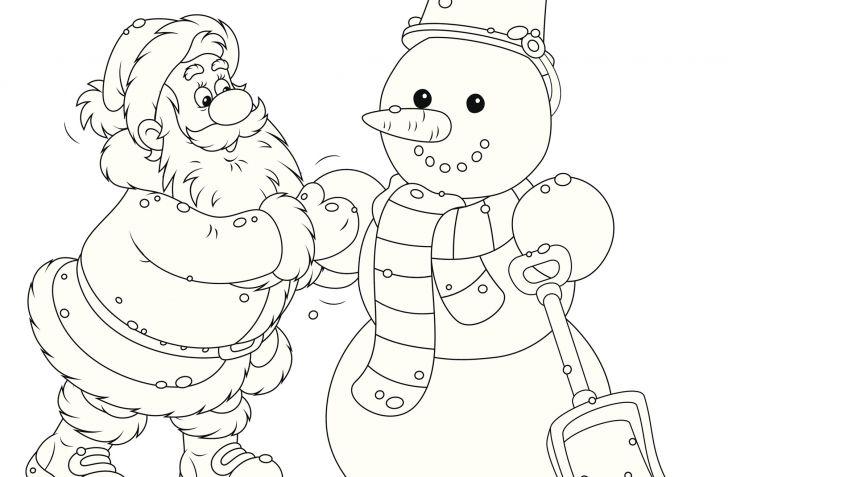 Dibujos De Santa Claus Para Colorear En Navidad Hogarmania